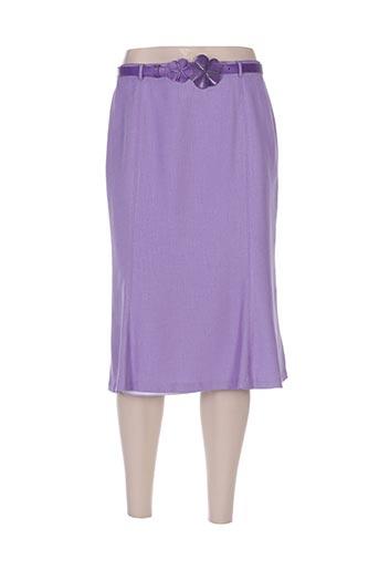 Jupe mi-longue violet COSTURA 40 pour femme