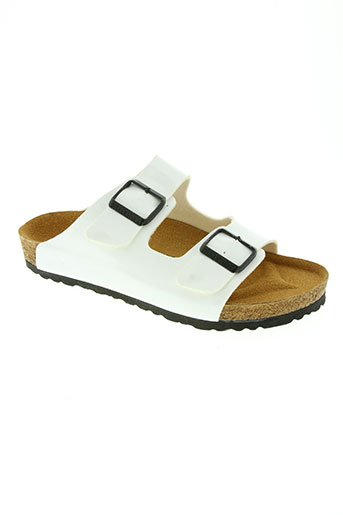 birkenstock chaussures femme de couleur blanc