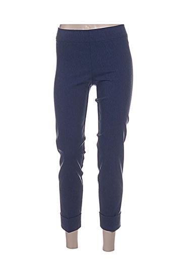 Pantalon 7/8 bleu AVENUE MONTAIGNE pour femme