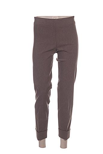 Pantalon 7/8 marron AVENUE MONTAIGNE pour femme