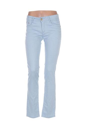 miss fanny pantalons femme de couleur bleu