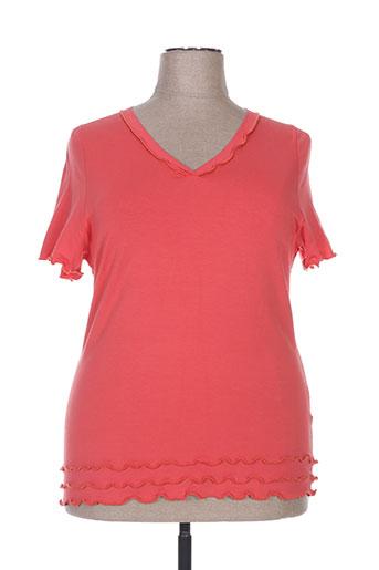 T-shirt manches courtes rouge QUATRE VINGT JOURS pour femme
