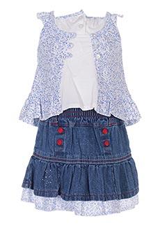Top/jupe bleu TEDDY LU pour fille