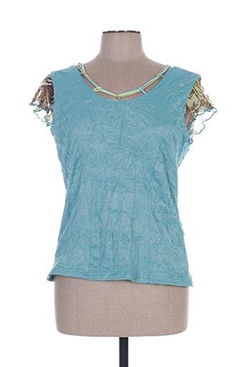 brigitte saget chemises femme de couleur bleu