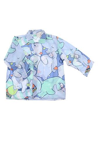 babymini par catimini chemises garçon de couleur bleu