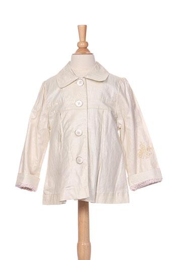 kenzo vestes fille de couleur beige