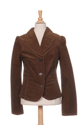jean bourget vestes fille de couleur marron