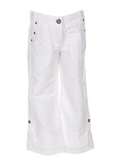 Pantalon casual blanc JEAN BOURGET pour fille
