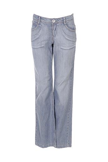 catimini jeans fille de couleur bleu