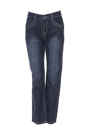 confetti jeans fille de couleur bleu