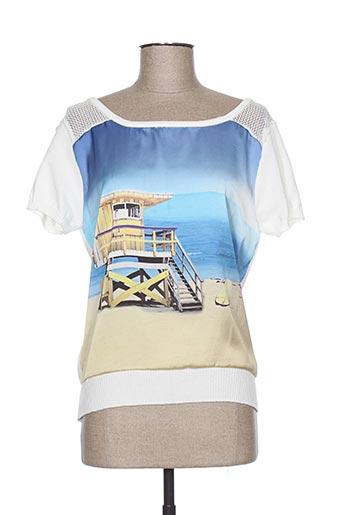 lucchini chemises femme de couleur blanc