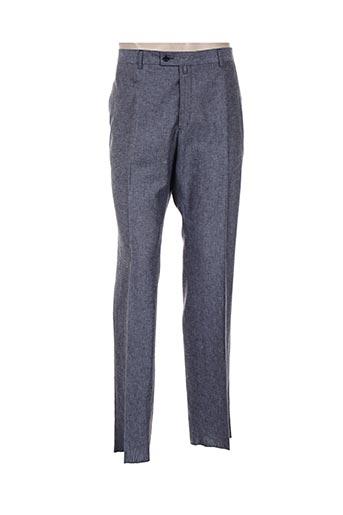 nino loretti pantalons homme de couleur bleu