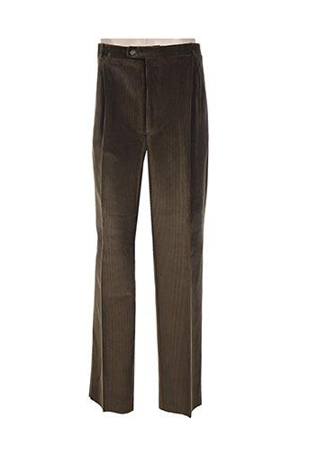 cosserat pantalons homme de couleur vert