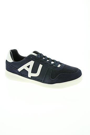armani chaussures homme de couleur bleu