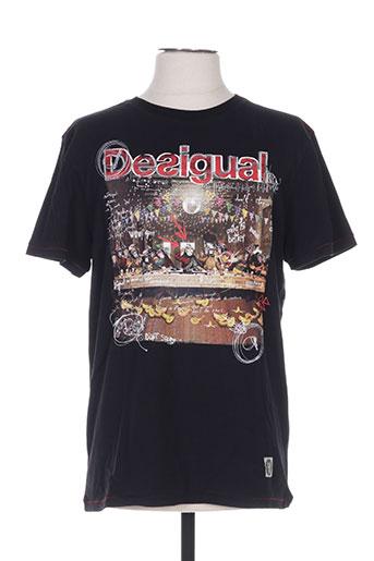 T-shirt manches courtes noir DESIGUAL pour homme