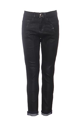 Jeans coupe slim noir DESIGUAL pour femme