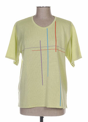 Pull col rond vert ELEANE pour femme