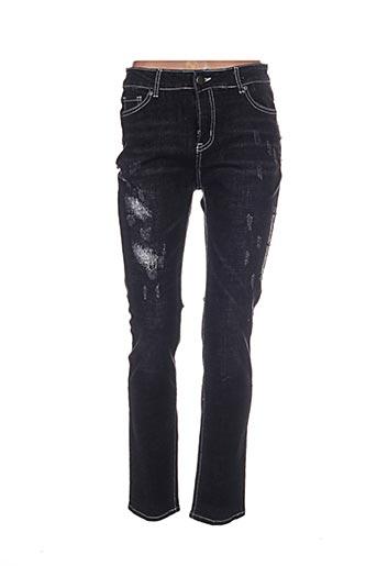 leslie jeans femme de couleur noir