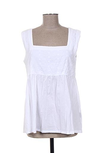 esprit de la mer tuniques femme de couleur blanc