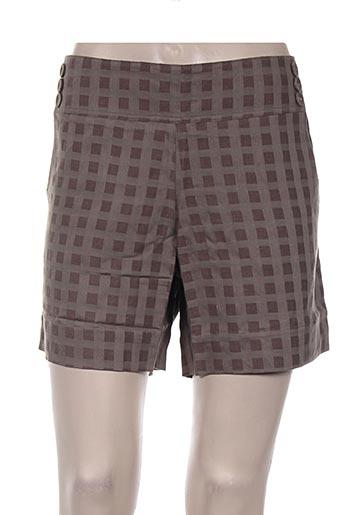 ethos shorts / bermudas femme de couleur gris
