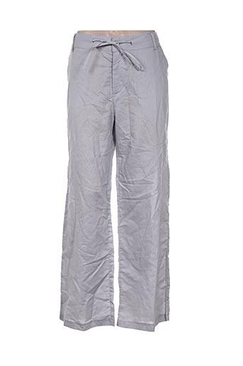 a belle by j.e creation pantalons femme de couleur gris