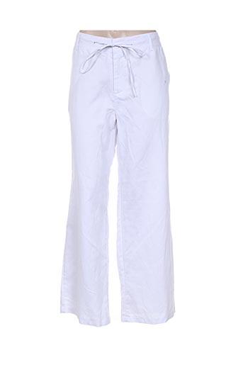 a belle by j.e creation pantalons femme de couleur blanc