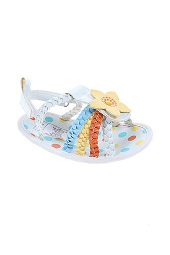 nursery time chaussures fille de couleur blanc