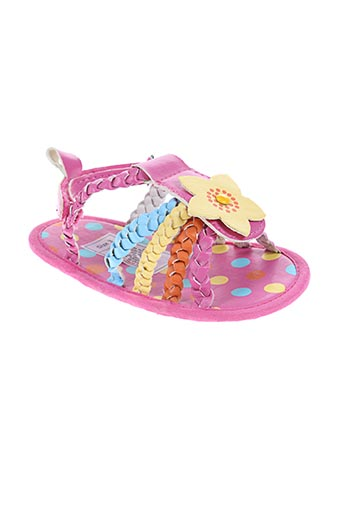 nursery time chaussures fille de couleur rose