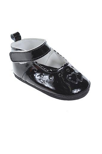 nursery time chaussures fille de couleur noir