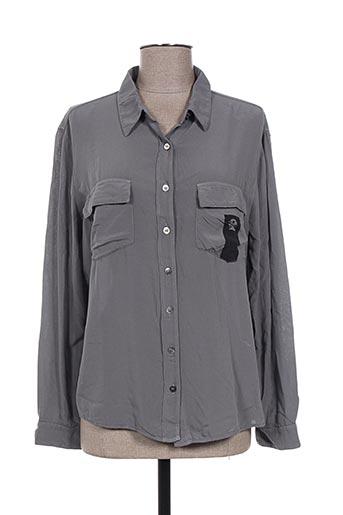 diplodocus chemises femme de couleur gris