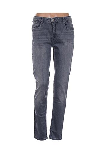 fransa jeans femme de couleur gris