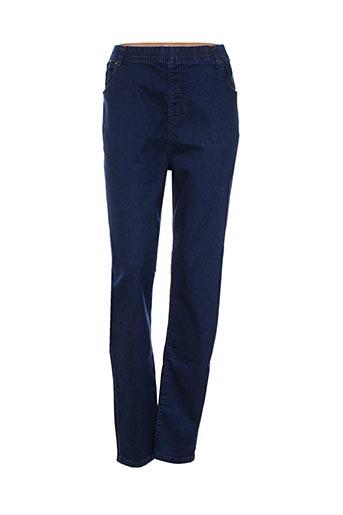 gevana jeans femme de couleur bleu