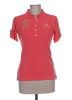 Polo manches courtes rouge LA MARTINA pour femme