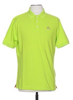 Polo manches courtes vert LA MARTINA pour homme