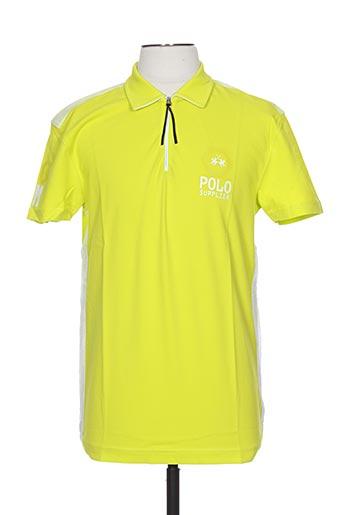 Polo manches courtes jaune LA MARTINA pour homme