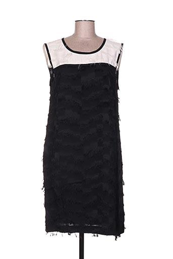 Robe mi-longue noir BEATRICE pour femme