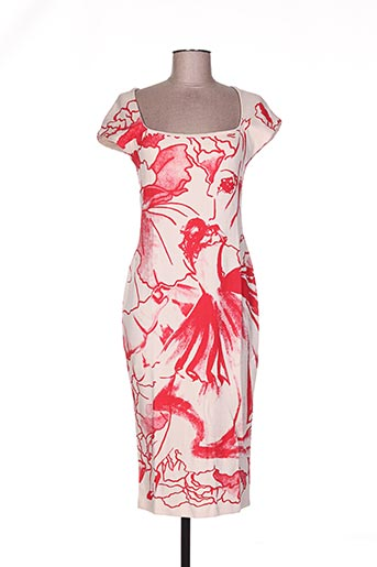Robe mi-longue rouge ISABEL DE PEDRO pour femme