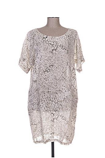 120% lino robes femme de couleur gris