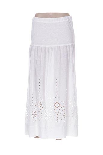 120% lino jupes femme de couleur blanc