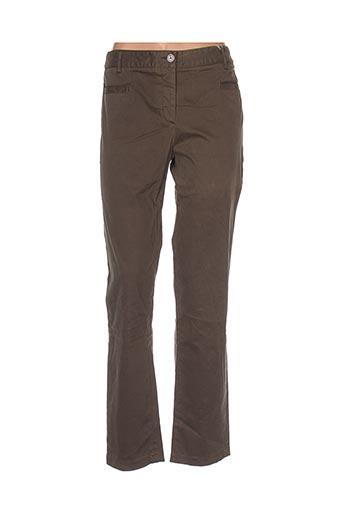 villaret pantalons femme de couleur vert
