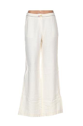 Pantalon casual beige ERNEST pour femme