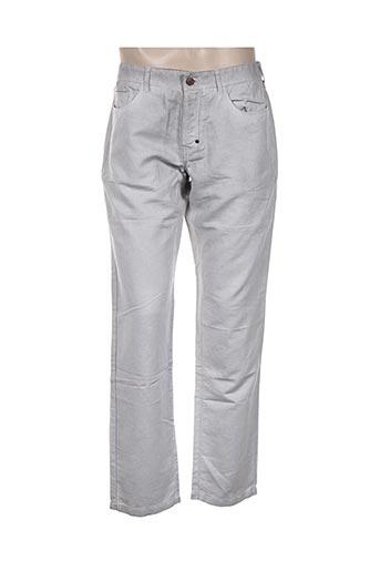 120% lino pantalons homme de couleur gris