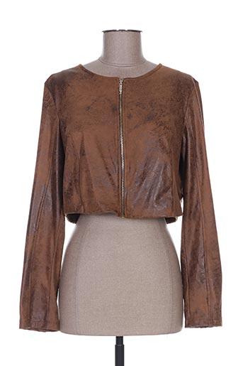 daniela cool vestes femme de couleur marron