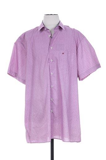 chatel chemises homme de couleur violet