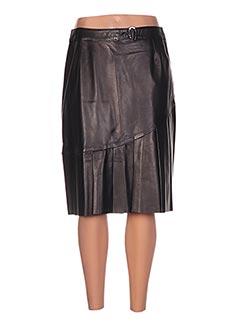 Jupe mi-longue noir AKHESA pour femme