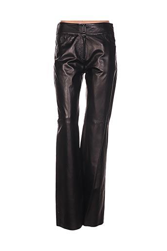 akhesa pantalons femme de couleur noir