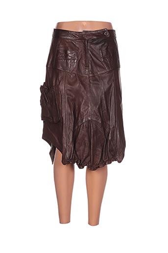 akhesa jupes femme de couleur marron
