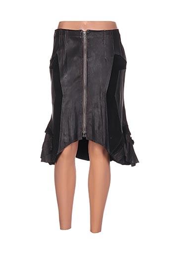 Jupe mi-longue noir ICONOCLAST pour femme