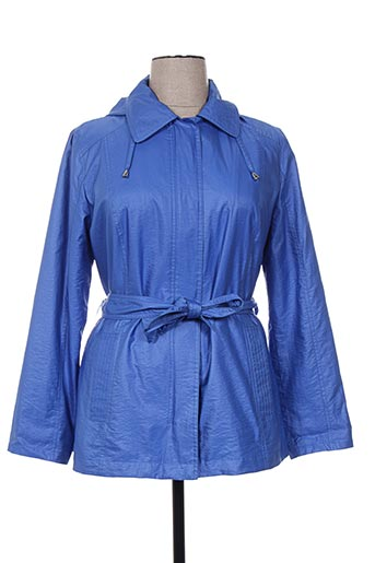 concept k manteaux femme de couleur bleu