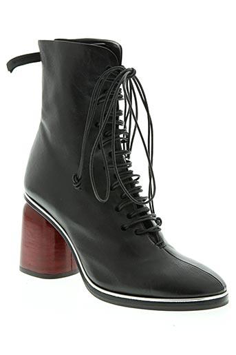 halmanera chaussures femme de couleur noir